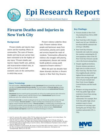Firearm Deaths and Injuries in New York City - NYC.gov