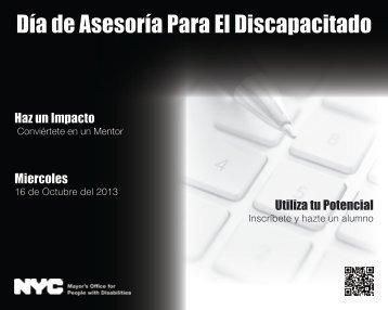 Día de Asesoría Para El Discapacitado - NYC.gov