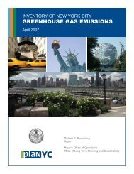 Inventory of New York City Greenhouse Gas Emissions - NYC.gov