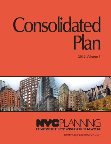 2012 Consolidated Plan - Volume 1 (Submission Version) - NYC.gov