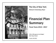 January 2013 Financial Plan Summary, Fiscal Years ... - NYC.gov