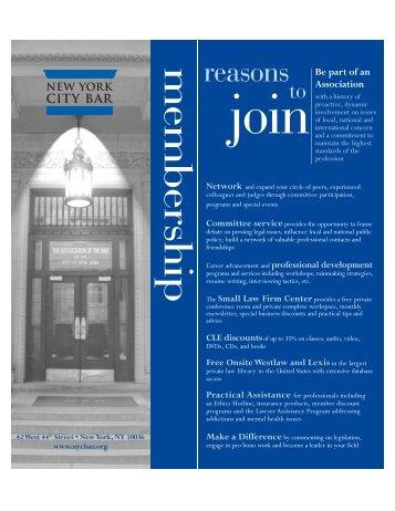membership reasons - New York City Bar Association