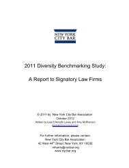 2011 Diversity Benchmarking Study: A Report to Signatory Law Firms
