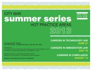 View the 2013 Summer Series Brochure - New York City Bar ...