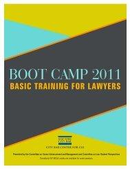 Boot Camp e-brochure.qxp - New York City Bar Association