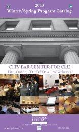 2013 Winter/Spring Program Catalog - New York City Bar Association