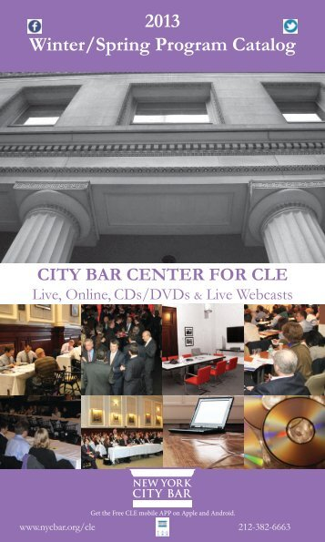 2013 Winter/Spring Program Catalog - New York City Bar Association