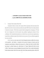 Consumer Class Actions in New York - New York City Bar Association