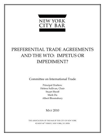 1 the effect of preferential trade agreement the case of brazil and preferential trade agreements and the wto impetus or impediment platinumwayz