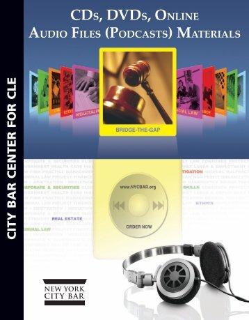 CDS, DVDS, ONLINE - New York City Bar Association