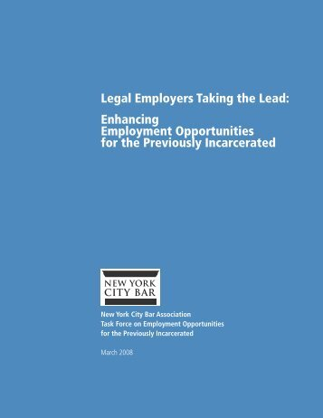 Legal Employers Taking the Lead - New York City Bar Association