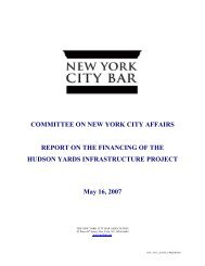 COMMITTEE ON NEW YORK CITY AFFAIRS REPORT ON THE ...