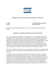 COMMITTEE ON LEGAL ISSUES PERTAINING TO ANIMALS A ...