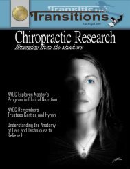 March - April 2005 (PDF Version) - New York Chiropractic College