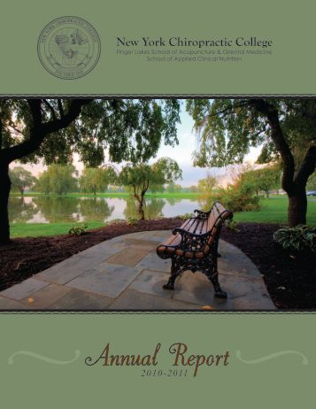 2010-2011 Annual Report - New York Chiropractic College