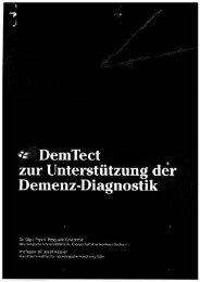 DemTect ~ ~ zur Unterstützung der ~ Demenz ... - Evidence.de