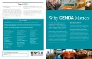 Why GENDA Matters - New York Civil Liberties Union