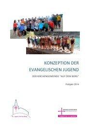 Konzeption der Jugendarbeit der Kirchengemeinde