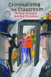 Criminalizing the Classroom - New York Civil Liberties Union