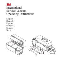 М International Service Vacuum Operating Instructions - Octopart