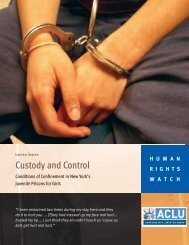 Custody and Control - American Civil Liberties Union