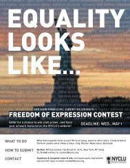 freedom of expression contest - New York Civil Liberties Union