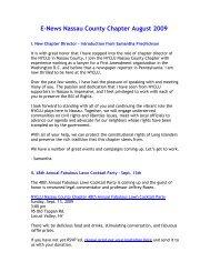 August 2009 - New York Civil Liberties Union