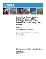 Controlling Capital Costs in High Performance Office Buildings