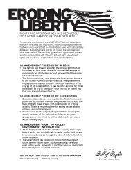 Eroding Liberty - New York Civil Liberties Union