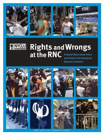 Rights and Wrongs at the RNC - New York Civil Liberties Union