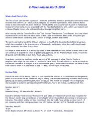 E-News Nassau March 2008 - New York Civil Liberties Union