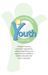 The Greece Central School District's Directory of Youth Services (PDF)