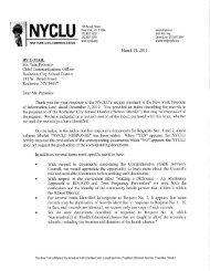Procedure - New York Civil Liberties Union