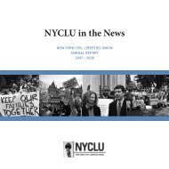 NYCLU in the News - New York Civil Liberties Union
