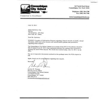 Canandaigua - New York Civil Liberties Union