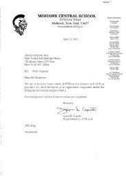 MOHAWK CENTRAL SCHOOL - New York Civil Liberties Union