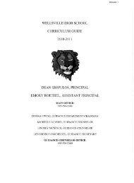 wellsville high school curriculum guide dean giopulos, principal ...