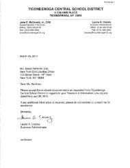 ticonderoga central school district - New York Civil Liberties Union