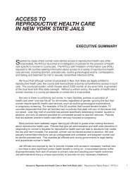 access to reproductive health care in new york state jails