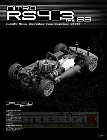 HPI Nitro RS4 3 Type SS Manual - CompetitionX.com
