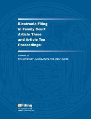 Electronic Filing in Family Court Article Three and Article Ten ...