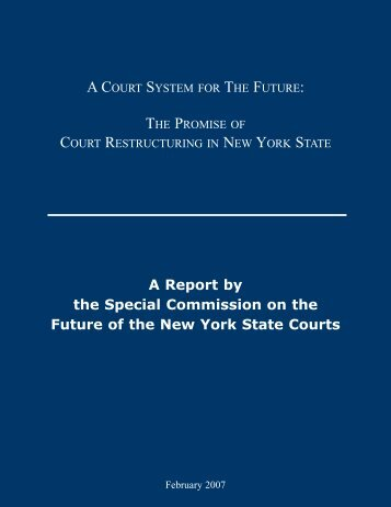 Special Commission on the Future of the New York State Courts