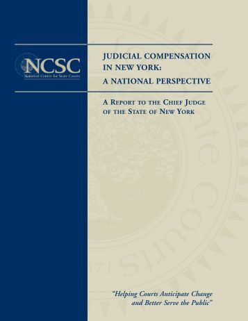 Judicial Compensation in New York: A National Perspective, Report