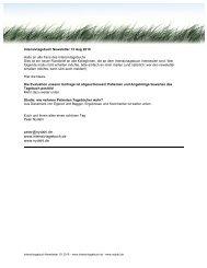 Intensivtagebuch Newsletter 13 - nydahl.de