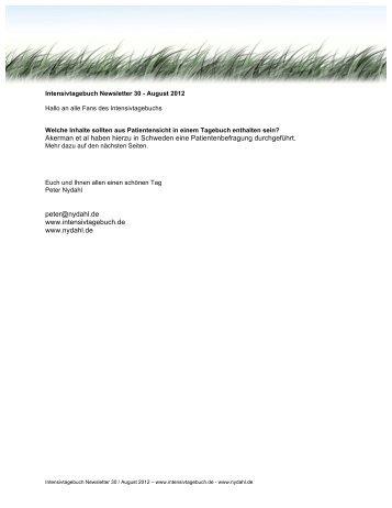 Intensivtagebuch Newsletter30 - nydahl.de