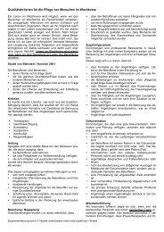 Qualitätskriterien für die Pflege von Menschen im ... - nydahl.de