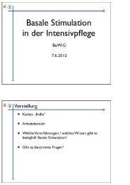 Basale Stimulation in der Intensivpflege - nydahl.de