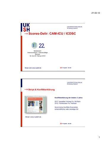 Delir CAM-ICU & ICDSC - nydahl.de
