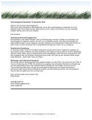 Intensivtagebuch Newsletter 15 - nydahl.de