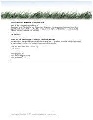 Intensivtagebuch Newsletter 14 - nydahl.de